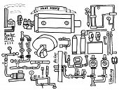 image of boiler  - Boiler room equipment engineering systems - JPG
