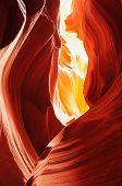 image of antelope  - Antelope Canyon and Navajo Rock Slot Formation - JPG