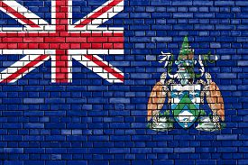 picture of ascension  - flag of Ascension Island painted on brick wall - JPG