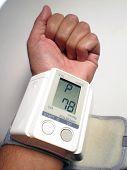 pulsimeter device on a man Wrist