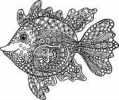 stock photo of goldfish  - Hand drawn goldfish illustration - JPG