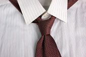 image of tied  - The tie tied in knot round a shirt collar - JPG