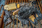 picture of ashes  - wood ash in village - JPG