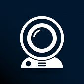 image of video chat  - camera video icon web vector insight cam chat network - JPG
