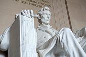 Постер, плакат: Statue of Abraham Lincoln Lincoln Memorial Washington DC