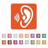 picture of understanding  - The ear icon - JPG
