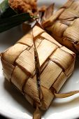 picture of fitri  - Ketupat served during Idul Fitri and Hari Raya Aidilfitri celebrations - JPG