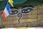 Buddha Gaze With Prayer Flags poster