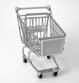 Supermercado Shopping Trolley (B&W)