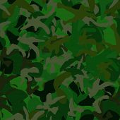 stock photo of camoflage  - Dark Green camoflage background at 25 megpixels - JPG