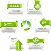 Vector set of sale design elements