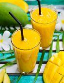 Fresh Tropical Fruit Smoothie Mango Juice. poster