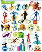 COLLECTION_5 Exclusive Series of Sports Icons and symbol pictograms with modern ideas. Vector color