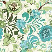Schöne Blume seamless Pattern, Vektor-Illustration-Textur