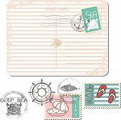 summer postage set