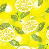 Vector lemon background (seamless pattern)