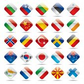 stock photo of holland flag  - Vector set world flag icons 2 - JPG