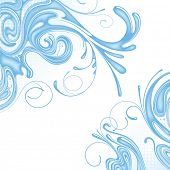 Vector background of water