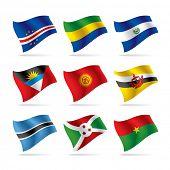 Vector conjunto de banderas del mundo 8