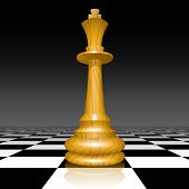 Raster version of vector chessman on a chessboard (contain the Clipping Path of the chessman)