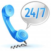 support center call icon 24 hours 7 day