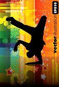 Vector illustration of breakdancer.
