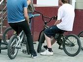 Three Young Bikers.