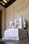 Interior Of The Abraham Lincoln Monument In Washington D.C.