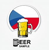 pic of beer mug  - czech national beer web element - JPG