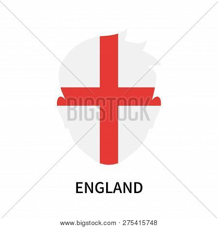 England Icon Isolated On White