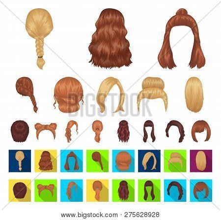 Female Hairstyle Cartoon Flat Icons