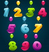 3D Party Balloons Numbers