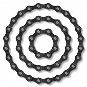Bicycle chain. Vector.