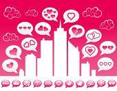 Pink Love Social Media City