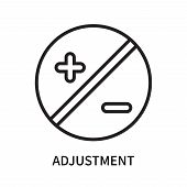 Adjustment Icon Isolated On White Background. Adjustment Icon Simple Sign. Adjustment Icon Trendy An poster