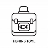 Fishing Tool Icon Isolated On White Background. Fishing Tool Icon Simple Sign. Fishing Tool Icon Tre poster