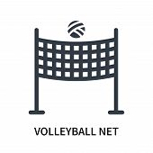 Volleyball Net Icon Isolated On White Background. Volleyball Net Icon Simple Sign. Volleyball Net Ic poster