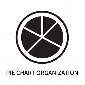 Pie Chart Organization Icon Isolated On White Background. Pie Chart Organization Icon Simple Sign. P poster