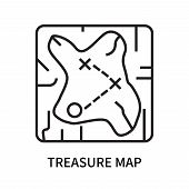 Treasure Map Icon Isolated On White Background. Treasure Map Icon Simple Sign. Treasure Map Icon Tre poster
