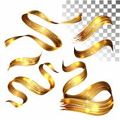 Vector 3d Paint Curl. Abstract Spiral Brush Stroke. Flowing Ribbon Shape. Digital Liquid Ink. Dynami poster
