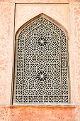 Oriental ornamented window of Ali Qapu Palace, Esfahan, Iran.