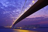 stock photo of tsing ma bridge  - Tsing Ma bridge - JPG