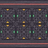 African Seamless Pattern. Traditional Mud Cloth, Bogolan. Geometric Design. poster