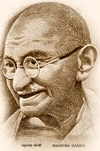 image of lithographic  - Gandhi - JPG