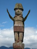 Squamish Nation Welcome Figure Totem