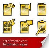 set informational sign icon vector illustration isolated on white background