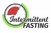 Logo Of Intermittent Fasting. Clock Face Symbolizing The Principle Of Intermittent Fasting. Infograp poster