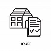 House Icon Isolated On White Background. House Icon Simple Sign. House Icon Trendy And Modern Symbol poster