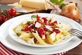 traditional italian pasta dish with hot Arrabbiata sauce