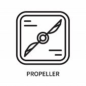 Propeller Icon Isolated On White Background. Propeller Icon Simple Sign. Propeller Icon Trendy And M poster